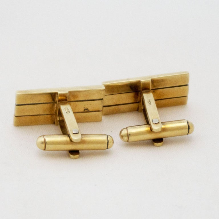Golden Cufflinks Tricolor For Sale 1