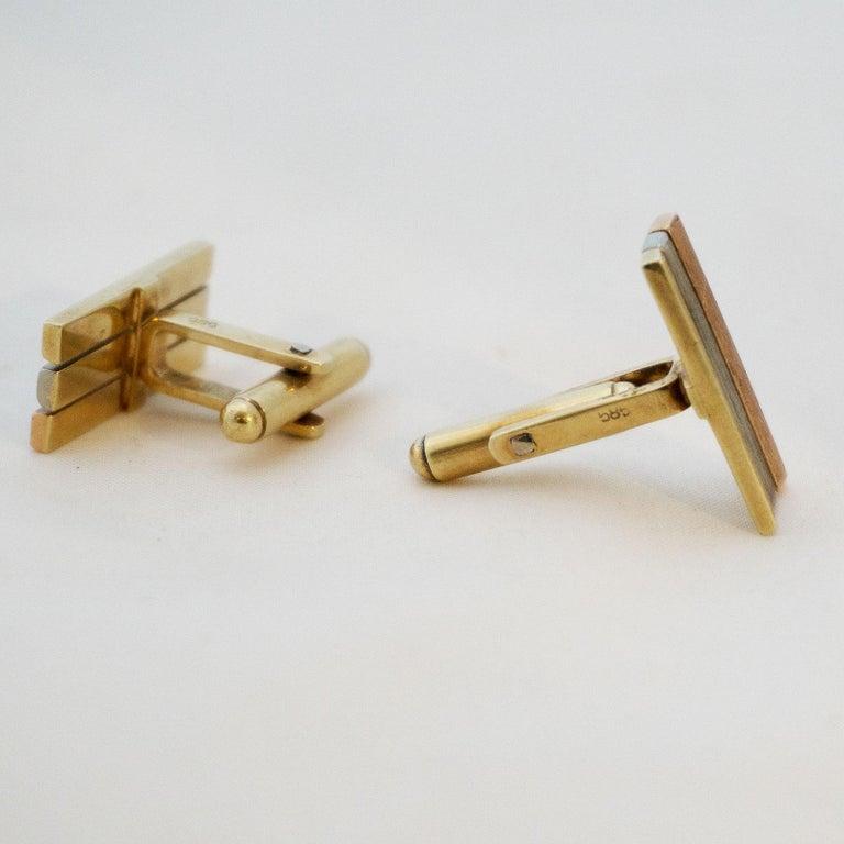 Golden Cufflinks Tricolor For Sale 2