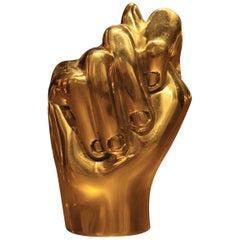 Golden Door Handle in Cast Brass