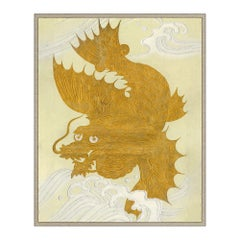Golden Dragon Japanese Print by CuratedKravet