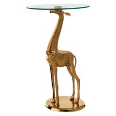 Golden Giraffe Side Table