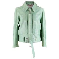 Golden Goose Deluxe Brand Mint Leather Jacket - Size S