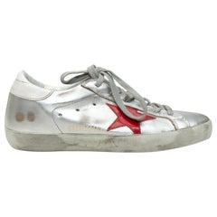 Golden Goose Deluxe Brand Silver & Multicolor Low-Top Sneakers