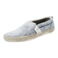 Golden Goose Grey Slip On Sneakers Size 43