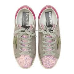 Golden Goose Pink Glitter Sneaker