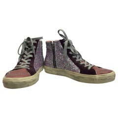 Golden Goose Pink Sparkle High Top Sneaker