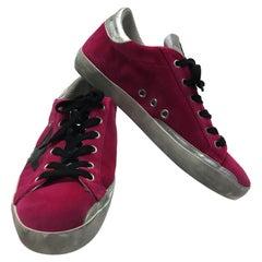Golden Goose Pink Velvet Sneakers