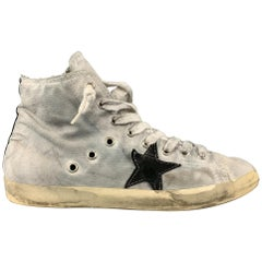GOLDEN GOOSE 'Private Shos Sport' Collection Size 10 Gray Canvas Distressed Snea