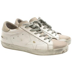 Golden Goose Superstar Distressed White Sneakers SIZE 38