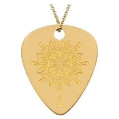 "Golden ""Gratitude"" Mandalic, 18 Karat Yellow Gold Necklace"