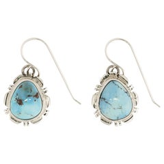 Golden Hills Turquoise and Sterling Earrings