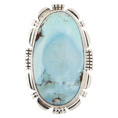 Golden Hills Turquoise and Sterling Ring