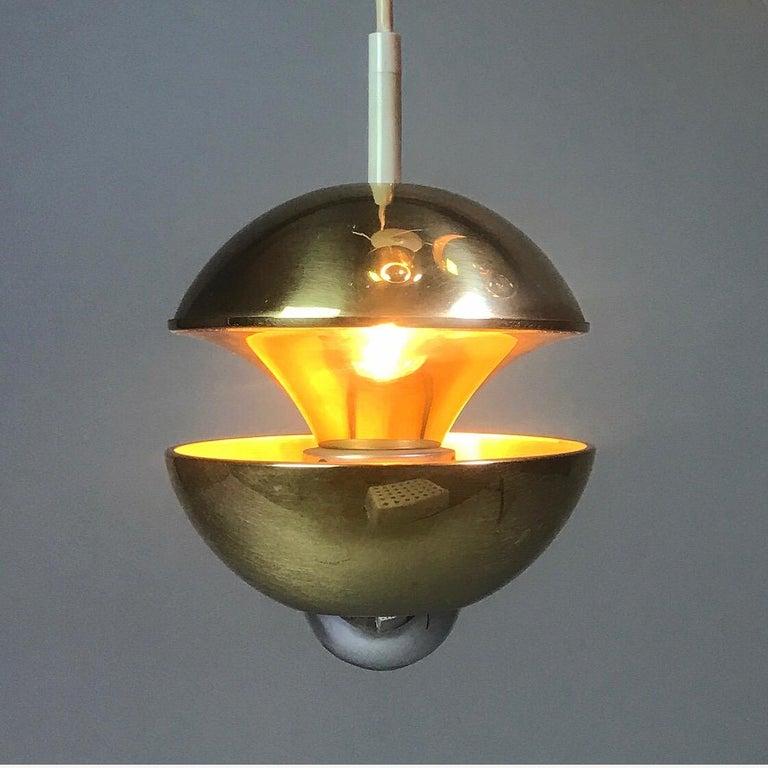 Golden Kaskade Ceiling Light by Klaus Hempel for Kaiser Leuchten, Germany, 1970s For Sale 1