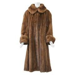 Golden Mink Swing Coat