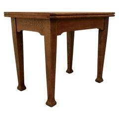 Golden Oak Arts & Crafts Bachelor's Metamorphic Dining Table