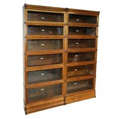 Golden Oak Globe Wernicke Bookcase