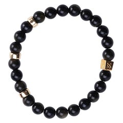 Golden Obsidian Black Hole Sun Bracelet