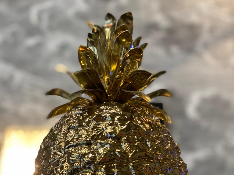 Plastic Golden Pineapple Ice Cube Cooler by Hans Turnwald for Freddo Therm, 1960s For Sale