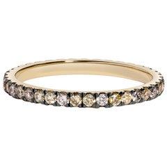 Golden Sky Eternity Ring, Yellow Diamonds, Grey Diamonds, White Diamonds