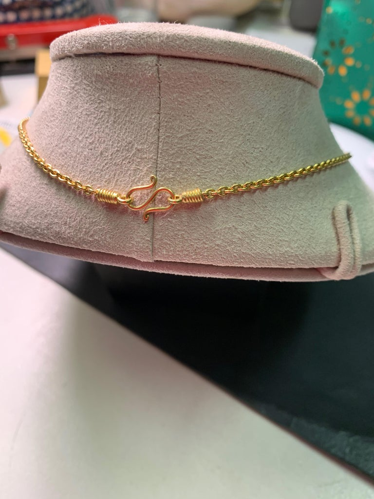 Artisan Golden South Sea Pearl in Yellow Gold 22 Karat Gold Pendant For Sale