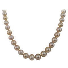 Golden South Sea Pearls Necklace, Round