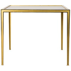 Golden Mid-Century Modern square Brass coffee table by Vereinigte Werkstätten