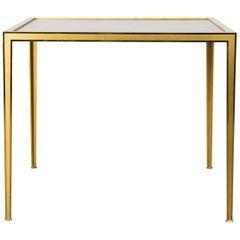 Golden Square Brass Coffee Table by Vereinigte Werkstätten, 1960s