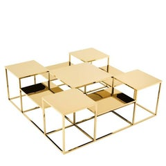 Golden Square Tops Coffee Table