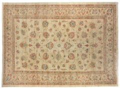Golden Tan Floral Traditional Area Rug