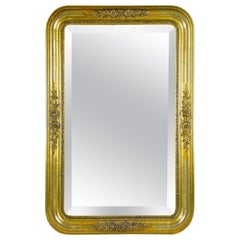 Golden Wall Mirror with Stucco Works Biedermeier Period, Austria, circa 1840