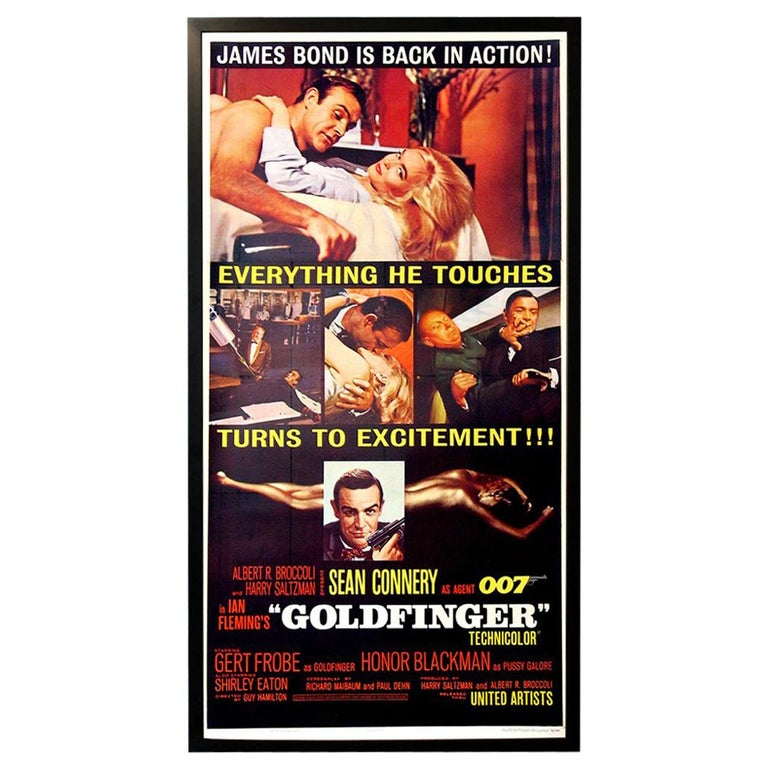 007 James Bond Goldfinger 1964 Poster