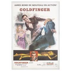 'Goldfinger' R1970s French Petite Film Poster
