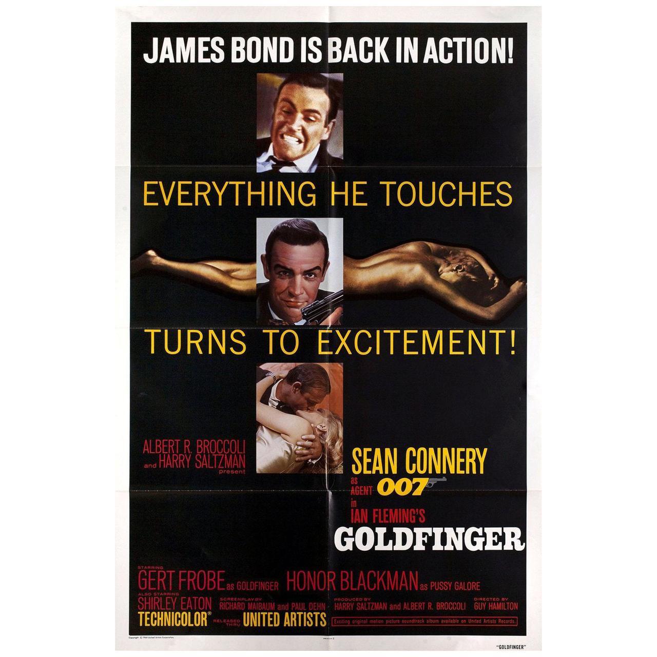 Goldfinger R1980s U.S. One Sheet Film Poster