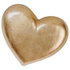 Goldleaf Wooden Heart