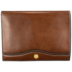 GOLDPFEIL Brown Leather Passport Holder Travel Wallet