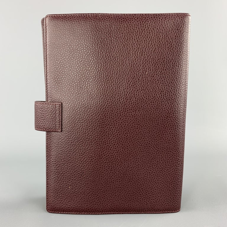 Black GOLDPFEIL Burgundy Leather Book Cover Case For Sale
