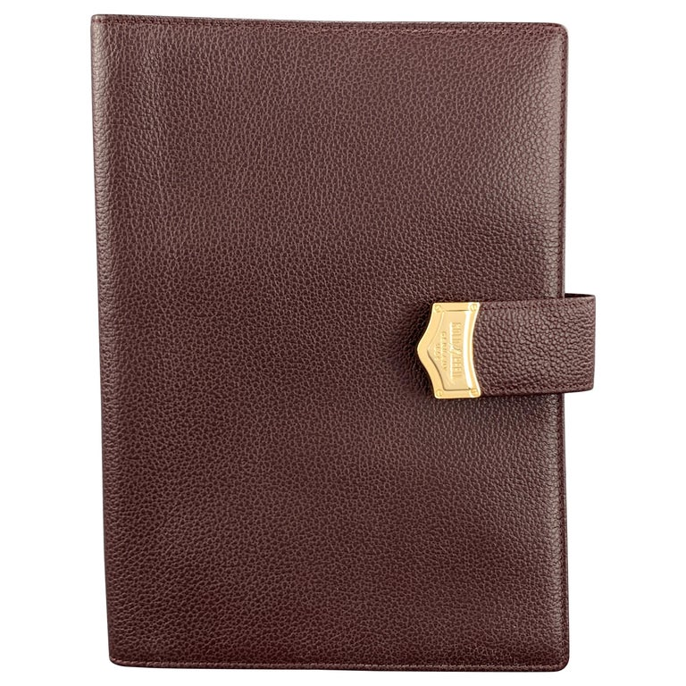 GOLDPFEIL Burgundy Leather Book Cover Case For Sale