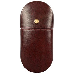 GOLDPFEIL Burgundy Leather Eyeglass Case