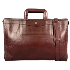 GOLDPFEIL Burgundy Leather Shoulder Strap Briefcase