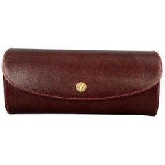 GOLDPFEIL Burgundy Leather SNap Closure Eyewear Case