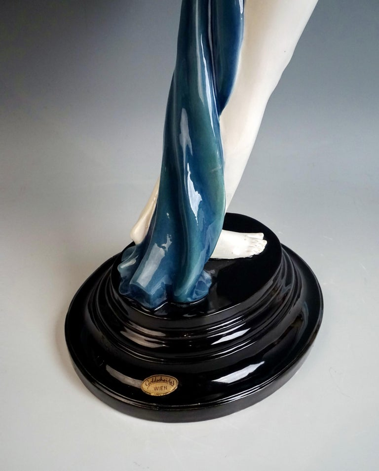 Goldscheider Art Deco Figure 'Lady Dancer in Peacock Costume' by Paul Philippe 2