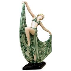 Goldscheider Art Deco Lady Dancer by Josef Lorenzl Model 7053 Made 1936-1937
