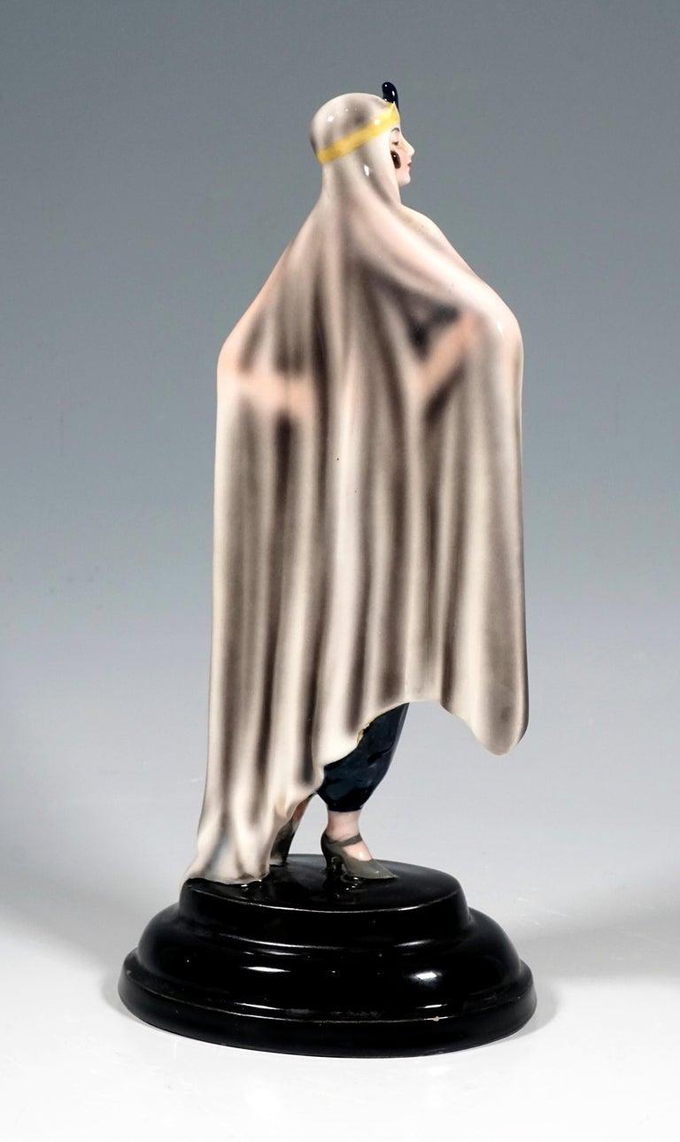 Art Deco Goldscheider Figurine 'Aida' by Josef Lorenzl, Vienna, around 1925 For Sale