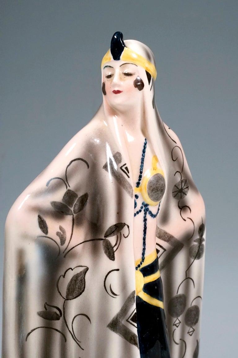 Austrian Goldscheider Figurine 'Aida' by Josef Lorenzl, Vienna, around 1925 For Sale