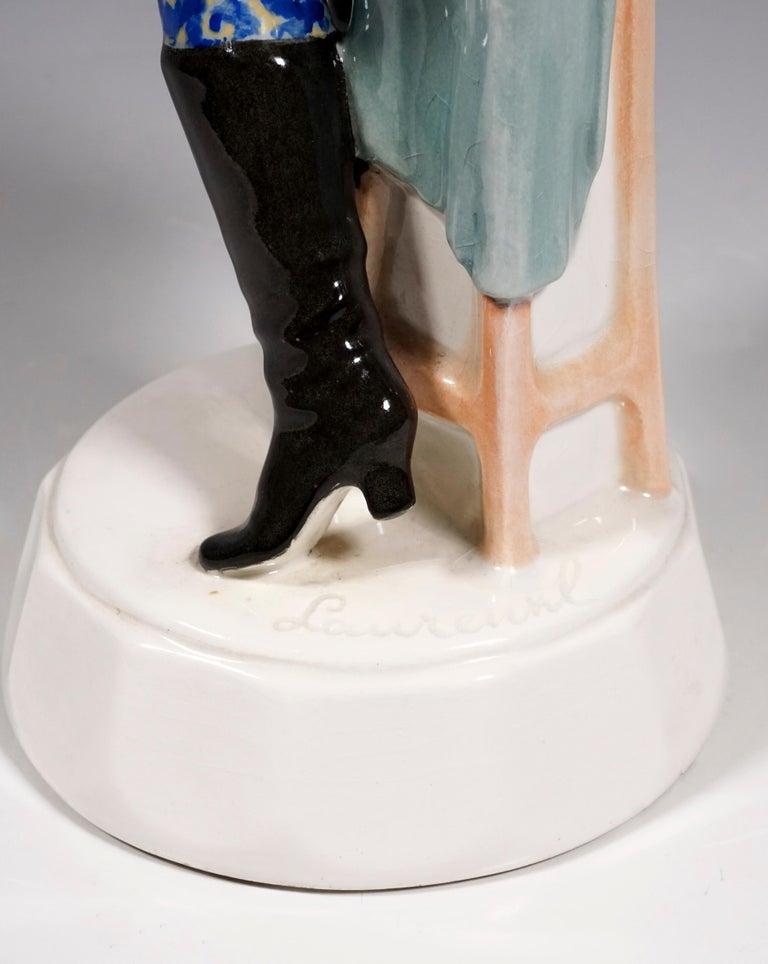 Goldscheider Figurine Lady Dancer in Russian Costume by Josef Lorenzl circa 1925 In Good Condition For Sale In Vienna, AT