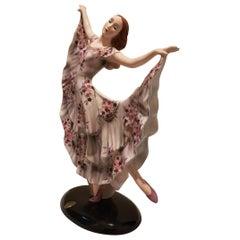 Goldscheider, Germany, Dancer with Flower decoration Dress, Ceramic, 1936