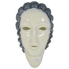 Goldscheider Inspired  Ceramic Stylized Art Deco Mask