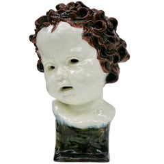 Goldscheider Rare Unique Child Bust, Vienna, 1923