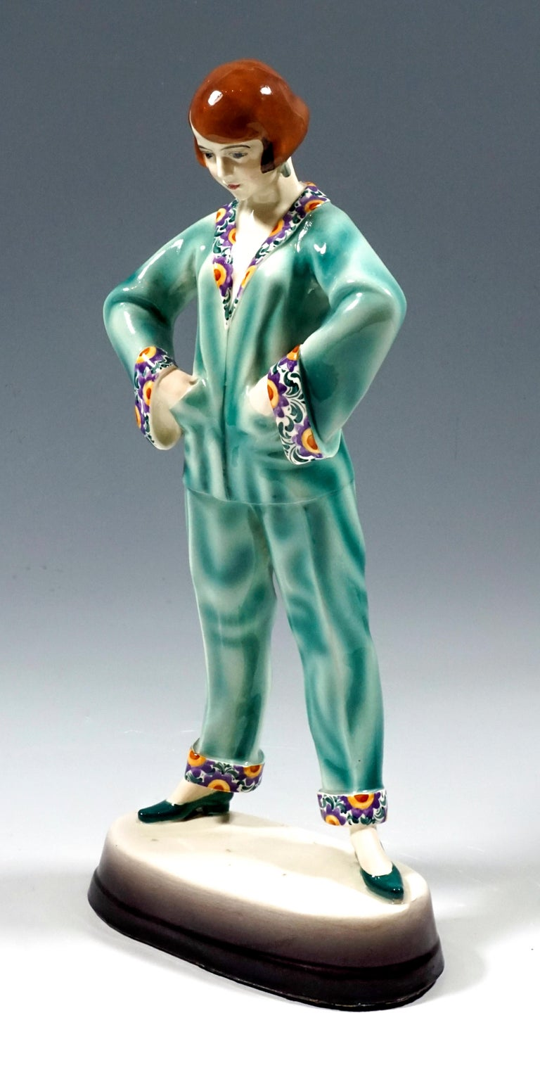 Very rare Art Deco goldscheider ceramics figurine