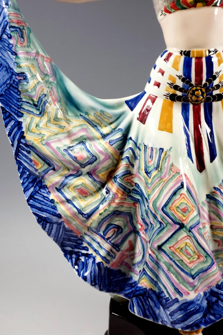 Ceramic Goldscheider Vienna Art Deco Figure, 'Ruth' Dancer in Oriental Costume by Rosé For Sale